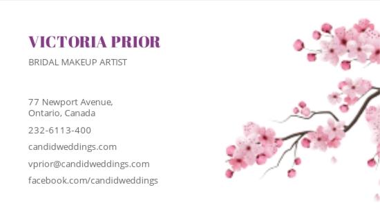 Bridal Makeup Artist Business Card Template 1.jpe