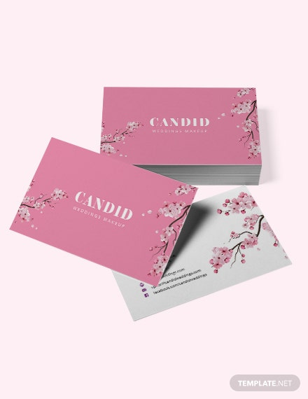 Bridal Makeup Artist Business Card Template In Adobe Photoshop