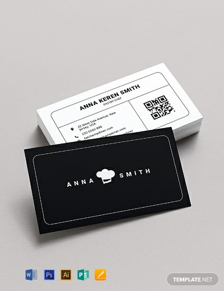 Creative Chef Business Card Template