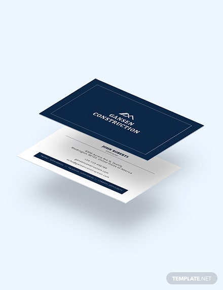 Construction Business Card Download