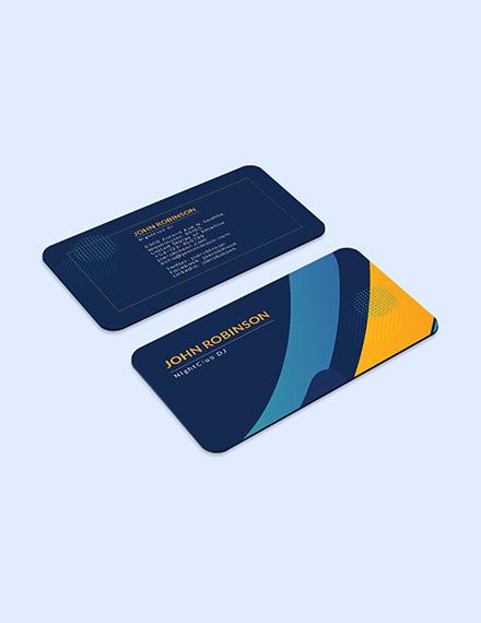 Creative DJ Business Card Download
