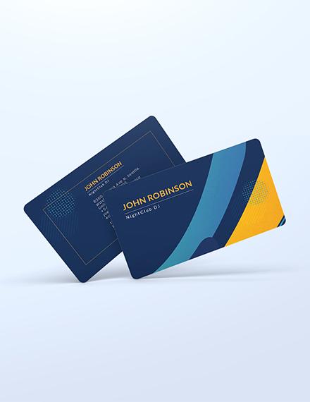 Creative DJ Business Card Template