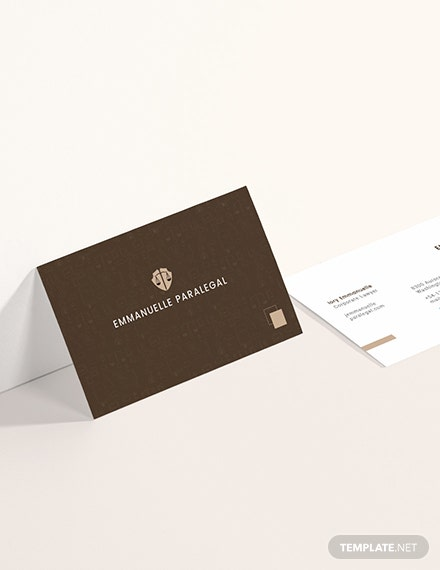 Creative Lawyer Business Card Sample