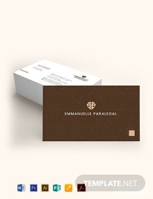 Creative Lawyer Business Card Template