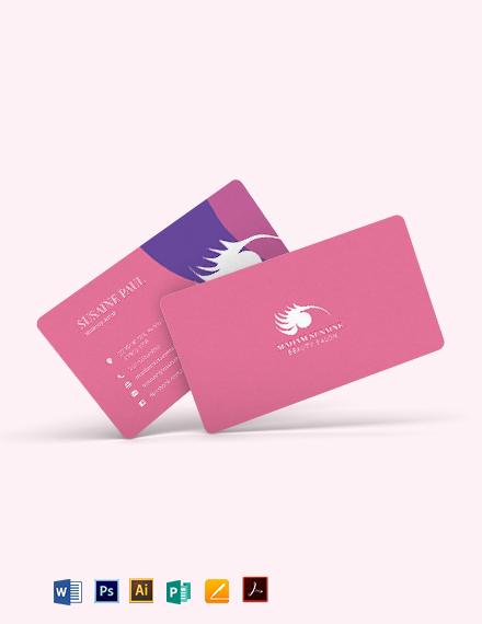 Creative Makeup Artist Business Card Template