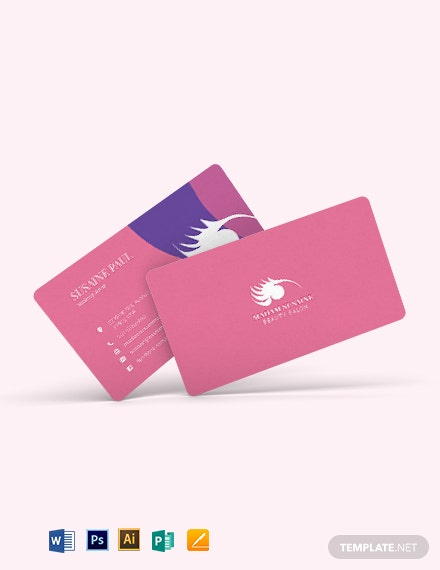 Creative Makeup Artist Business Card Template