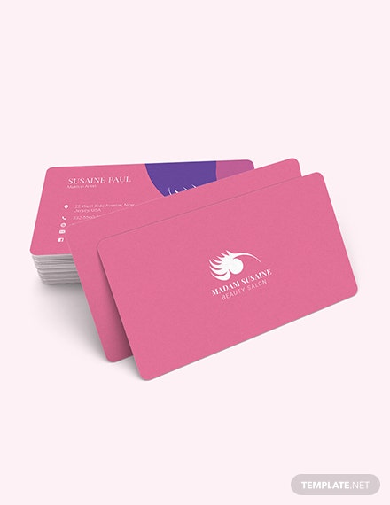 Sample Creative Makeup Artist Business Card