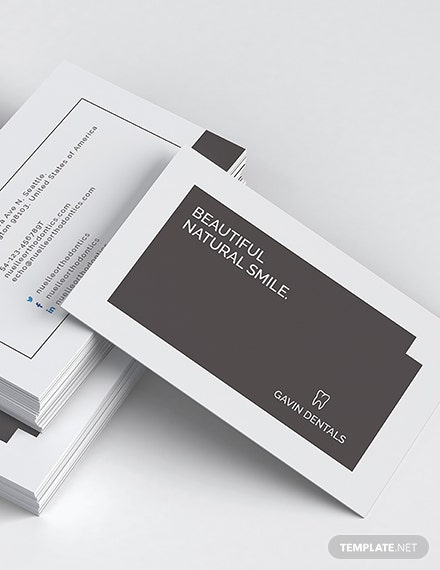 Dentist Business Card Download
