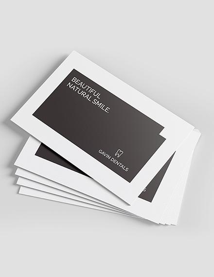 Sample Dentist Business Card