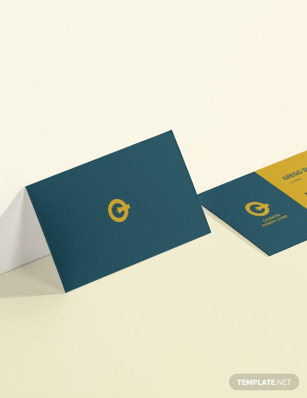 Sample Electrical Service Business Card