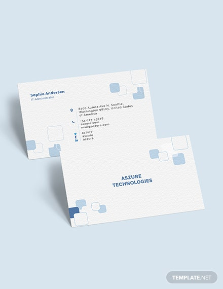 IT Company Business Card Download