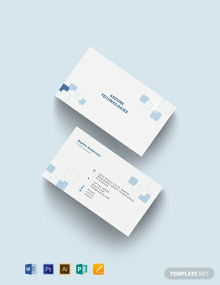 IT Company Business Card Template