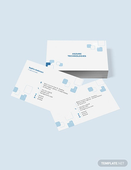 Sample IT Company Business Card