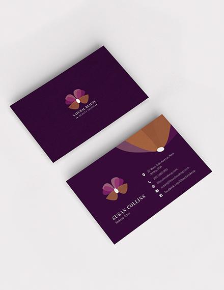 makeup artist business card template 1x