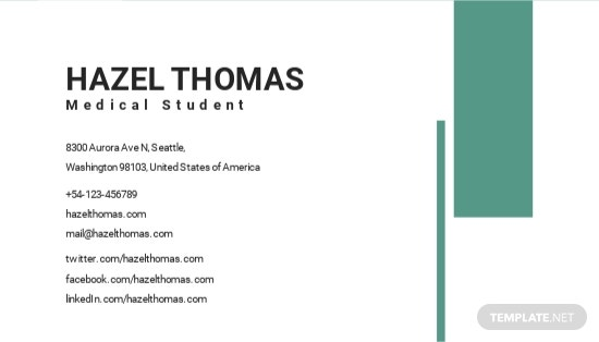 Medical Student Business Card Template 1.jpe