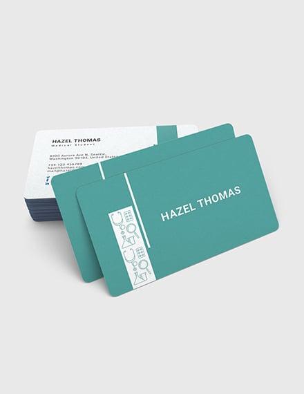 Sample Medical Student Business Card