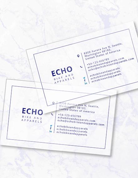 Minimal Transparent Business Card Download