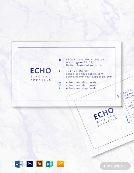 Minimal Transparent Business Card Template