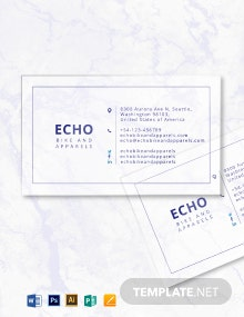 Minimal Transparent Business Card Template