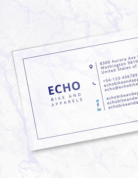 Sample Minimal Transparent Business Card