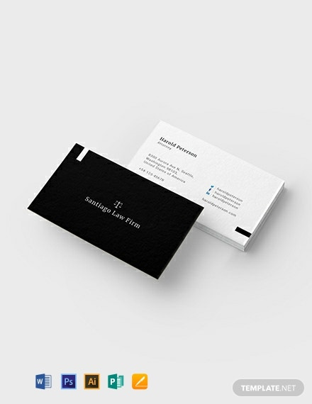 Attorney Business Card Template