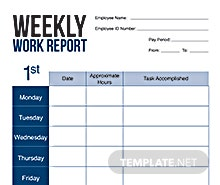 Free Weekly Report Card Template