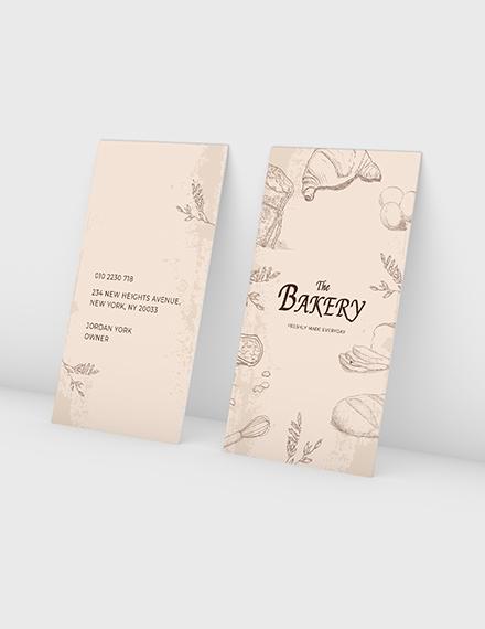 Bakery Shop Business Card Sample