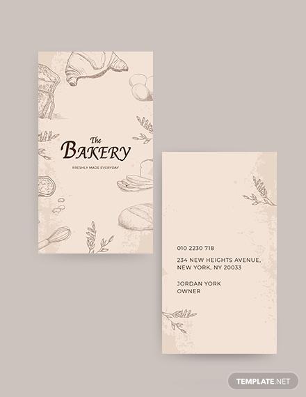 Bakery Shop Business Card Template