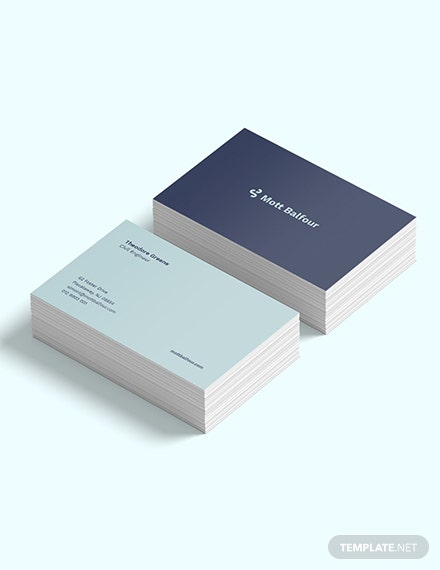 Civil Engineer Business Card Template