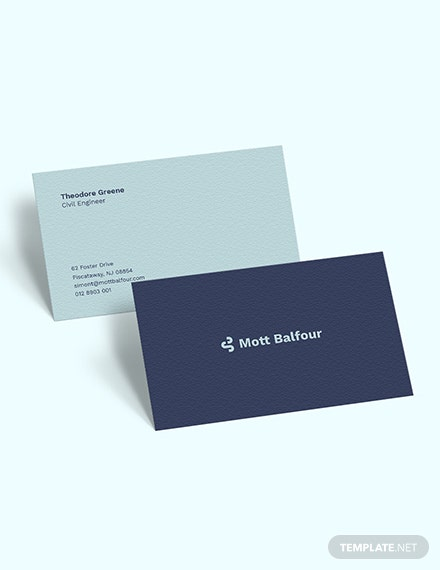 Civil Engineer Business Card download