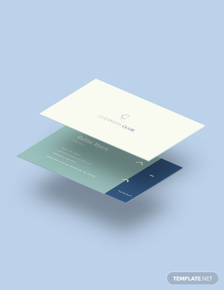 Cleaning Service Business Card Download