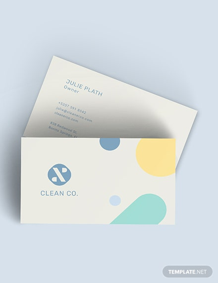 Commercial Cleaning Service Business Card Download