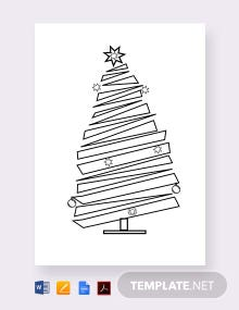 Free Blank Christmas Tree Template