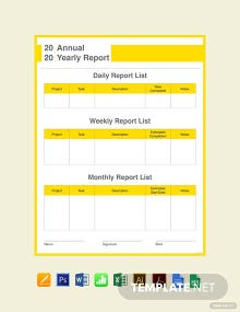 Free Yearly Report Card Template