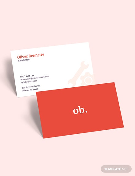 Creative Handyman Business Card Download