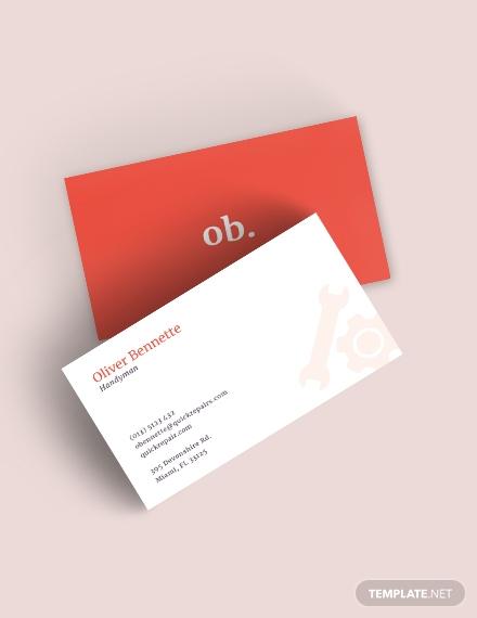 Creative Handyman Business Card Template