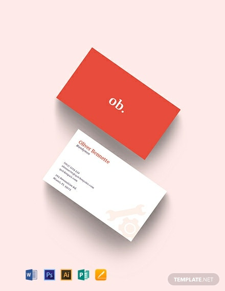 Creative Handyman Business Card Template