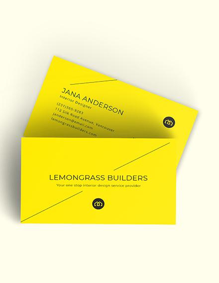 Creative Interior Designer Business Card Download