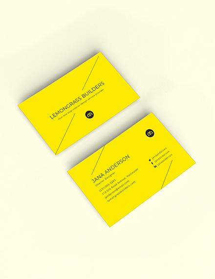 Creative Interior Designer Business Card Sample