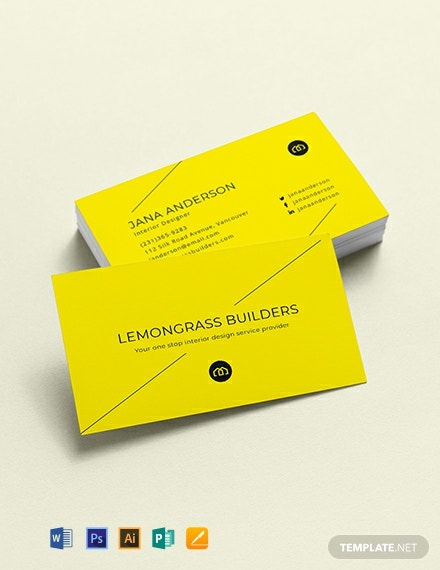 Creative Interior Designer Business Card Template