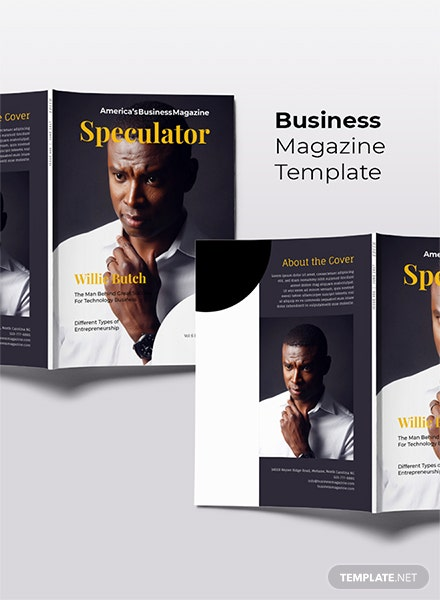 Free Business Magazine Template
