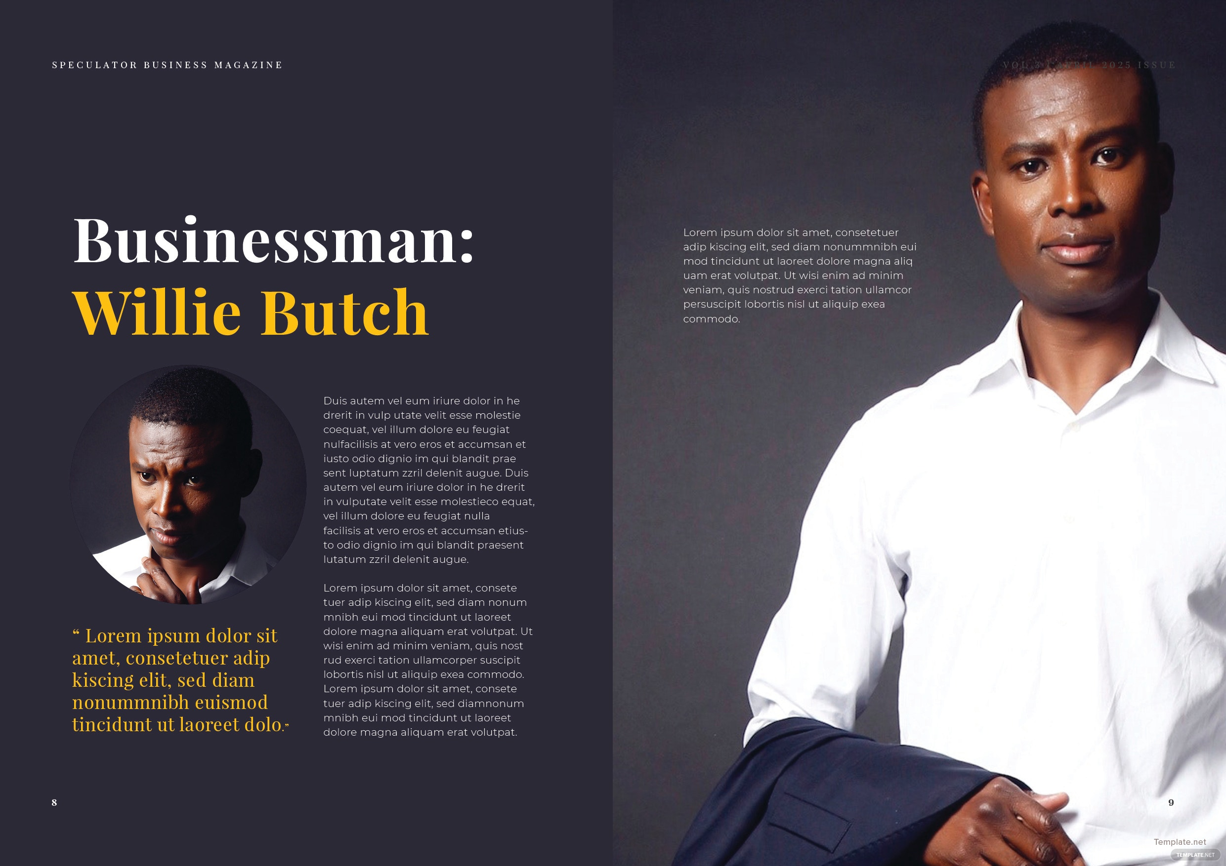 Free business magazine template in adobe indesign template printable free business magazine template cheaphphosting Images