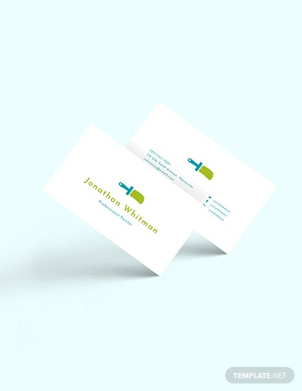 Creative Painter Business Card Download
