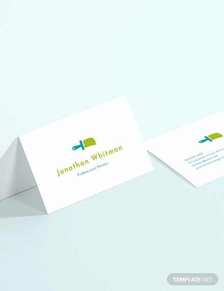 Creative Painter Business Card Sample