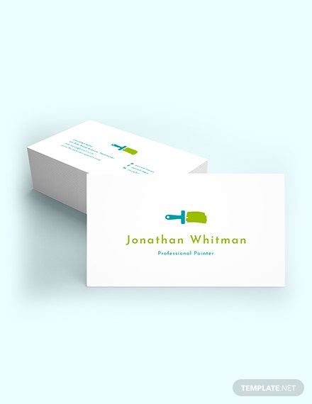 Creative Painter Business Card Template