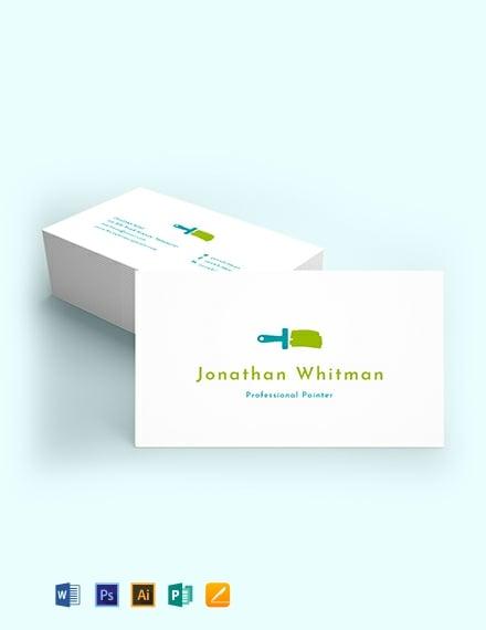 Creative Painter Business Card Template