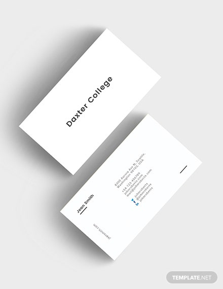 Minimalist Teacher Business Card Download