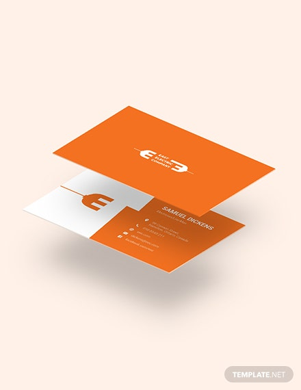 Modern Electrician Business Card Download