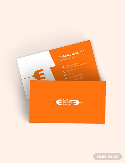 Modern Electrician Business Card Template
