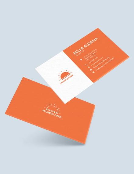 Modern Restaurant Business Card Template